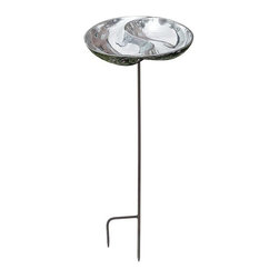 Minuteman International - Yin and Yang Bird Bath - BB-03-S - Shop for Garden Bird Baths from Hayneedle.com! Invite your favorite feathered creatures to your backyard with the Yin and Yang Bird Bath. Inspired by an ancient Chinese symbol this basin can be a decorative addition to your outdoor space. Made of polished aluminum this bird bath will give you years of bird-watching in your garden. It s planted in the ground by a sturdy stake that s included. With this attractive bird bath you can bring together your love for birds and your love for the outdoors.About ACHLA DesignsThis item is created by ACHLA Designs. ACHLA is a garden accessories company that emphasizes unique wood and hand-forged wrought iron European furnishings for the home and garden. ACHLA Designs continues to add beautiful and unique items year after year resulting in an unusually large product line. All ACHLA products are stocked in the company's warehouse for year-round prompt shipping. ACHLA Designs takes great pride in offering exceptional products and customer service.