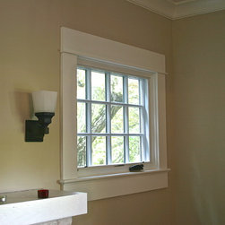 SE Portland - Mt. Tabor - New divided lite casement window in living room project by Bridgetown Window & Door