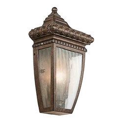 Kichler Lighting - Kichler Lighting 49130BRZ Venetian Rain Bronze Outdoor Wall Sconce - Kichler Lighting 49130BRZ Venetian Rain Bronze Outdoor Wall Sconce