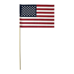 American 8X12 Stick Flag Cotton No Fray US Flag - Handheld American Flag