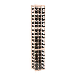 3 Column Standard Cellar Kit in Pine with White Wash Stain - Each wine cellar rack meets Wine Racks America's unparalleled fabrication standards. Modular engineering provides universal kit compatibility which enables connoisseurs to mix and match wine rack kits until you achieve a personally-defined wine bottle storage system.