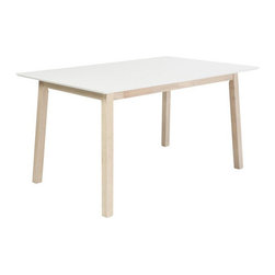 White Wash Dining Table - Rectangle - You enjoy the simple things in life. A single flower on a night stand. A glass of red wine. And a white table to top it all off.