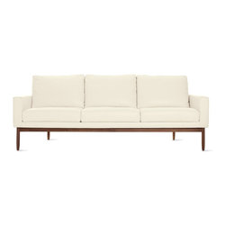 Design Within Reach - Raleigh Sofa, Leather | Design Within Reach - I always swoon over white and wood, and the leather puts this sofa over the top. It would look great in any space.