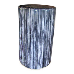 Petrified Wood Stool - I would love to use these stools around a formal dining table, but they would be equally divine in a rustic breakfast nook. While off duty from the dining table, use one around the house as a step stool or accent piece.