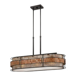 Quoizel Lighting - Quoizel Lighting MCLG337RC Laguna Island Billiard Fixture With 3 Lights - For over seventy years, Quoizel lighting has been dedicated to the design and production of its diversified line of fine lighting products and home accessories.