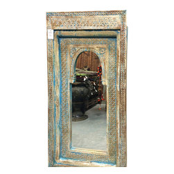 Architectural Jharokha Carved wooden Square Frame with Mirror $499.00 - http://www.mogulinterior.com/architectural-jharokha-carved-wooden-square-frame-with-mirror.html