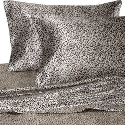 Britannica Home Fashions, Inc. - Hotel Satin Luxury Leopard Sheet Set - Nothing says luxury like soft, satiny sheets that wrap you in unmatched comfort and sumptuousness. The exotic leopard print offers a striking look and a touch of glamour to your bed.