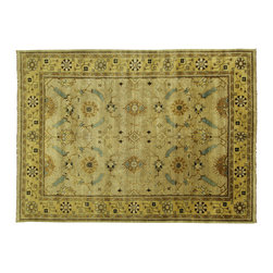 Manhattan Rugs - 10' X 14' Antiqued Turkish Oushak Hand Knotted Wool Oriental Rug S432 - This is a true hand knotted oriental rug. it is not hand tufted with backing, not hooked or machine made. our entire inventory is made of hand knotted rugs. (all we do is hand knotted)
