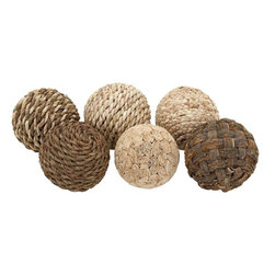 Benzara - Decorative Ball with Beautiful Design - Set of 6 - Bring elegance to your home decor with these Dried Decorative Balls. You can accentuate the aesthetics of home interiors with these Dried Decorative Balls which feature a stylish design that makes a perfect choice of accessory for all kinds of settings. These decorative balls feature a simple and attractive design which makes them suitable for complementing all kinds of decors and settings. They sport a different finish which makes them suitable for incorporating in all kinds of decors. These decorative balls are made from plant material of top quality which ensures long lasting use. Durable in make, these decorative pieces can be placed anywhere to enhance the appearance of interior settings. These decorative balls are a perfect gifting idea which you can act upon during the housewarming party or birthday of your near and dear ones.