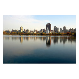Custom Photo Factory - The Reservoir, Central Park, New York City Canvas Wall Art - The Reservoir, Central Park, New York City  Size: 20 Inches x 30 Inches . Ready to Hang on 1.5 Inch Thick Wooden Frame. 30 Day Money Back Guarantee. Made in America-Los Angeles, CA. High Quality, Archival Museum Grade Canvas. Will last 150 Plus Years Without Fading. High quality canvas art print using archival inks and museum grade canvas. Archival quality canvas print will last over 150 years without fading. Canvas reproduction comes in different sizes. Gallery-wrapped style: the entire print is wrapped around 1.5 inch thick wooden frame. We use the highest quality pine wood available. By purchasing this canvas art photo, you agree it's for personal use only and it's not for republication, re-transmission, reproduction or other use.