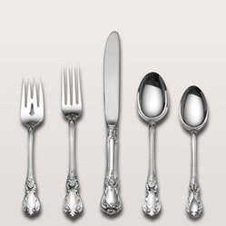 "66-Piece 'Old Master' Sterling Silver Flatware Service - Easter is definitely an occasion to polish your silverware for the table. ""Old Master"" is a favorite family pattern, but simpler lines will work well too."