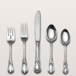 """66-Piece 'Old Master' Sterling Silver Flatware Service - Easter is definitely an occasion to polish your silverware for the table. """"Old Master"""" is a favorite family pattern, but simpler lines will work well too."""