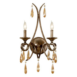 Murray Feiss - Murray Feiss Reina 2 Bulb Gilded Imperial Silver Traditional Wall Sconce X-SIG36 - This Murray Feiss Reina 2 Bulb Gilded Imperial Silver Traditional Wall Sconce is suitable for even the most glamorous of homes. It has a gorgeous steel frame with a round back plate and curvaceous scrolls in a beautiful, gilded imperial silver finish accented with glistening drops of crystal. It's a stunning, two-light piece that's sure to bring beauty and elegance to any home.