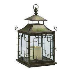 Cyan Design - Cyan Design Pagoda Candle Lantern in Verde - Pagoda Candle Lantern in Verde