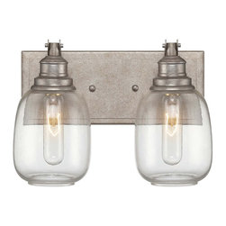 Savoy House - Orsay 2-Light Bath - The Savoy House Orsay collection, designed by Brian Thomas, combines vintage lighting inspirations with modern steel finishes and clear glass globes for an appealing industrial look.