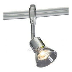 Zonyx Yavin Spot Light - The Yavin Spot is a glass shade spotlight fixture designed for Bruck's Zonyx line voltage track system. It tilts 90° with a 360° rotation action.