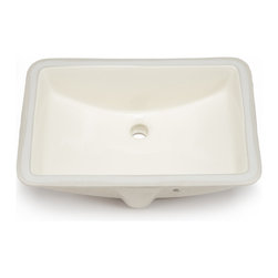 Hahn - Hahn Ceramic Large Rectangular Bowl Undermount Bathroom Sink, Bisque - This lovely porcelain undermount sink comes in a lovely subtle bisque color. The sink's rectangular shape adds a gorgeous dynamic with lovely elegance to bathroom decor.
