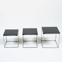 Modern Classics - Kjaerholm: PK71 Nested Table Cube Set Reproduction - Features:
