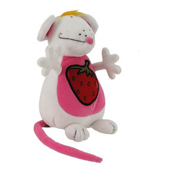 Happy House Adorable Mouse Plush Baby Toy - This sweet little mouse will bring a smile to your little sweetie`s face! It is 100% polyester and measures 7 inches tall, 4 inches wide. This plush toy is recommended for all ages, and is machine washable in cold water.