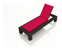 Forever Patio - Capistrano Wicker Adjustable Chaise Lounge, Flagship Ruby Cushion - Whether you want to lounge around after a swim or enjoy a peaceful outdoor nap, the Forever Patio Capistrano Wicker Outdoor Single Adjustable Chaise Lounge with Red Sunbrella cushions (SKU FP-CAP-SACL-MC-FF) delivers style and comfort. The mocha resin wicker is UV-protected and features dual tones that give it a more natural look, suiting a wide range of outdoor decor schemes. This lounge includes a fade- and mildew-resistant Sunbrella cushion, available in a wide selection of colors. With so many options, you are sure to find that perfect look for your patio.