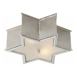 SOPHIA FLUSH MOUNT - Look up. Are your flush mount lights a total snooze? Fix it. Next time you look up, you can have a view of this glamorous silver star instead!