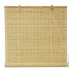 Oriental Furniture - Bamboo Roll Up Blinds - Natural 72 Inch, Width - 72 Inches - - Bamboo roll up blinds are a versatile addition to any window.  They will fit in with any decor and are available in a wide variety of sizes.   Easy to hang and operate.  Available in five sizes, 24W, 36W, 48W, 60W and 72W.  All sizes measure 72 long. Oriental Furniture - WT-YJ1-8B6-72W