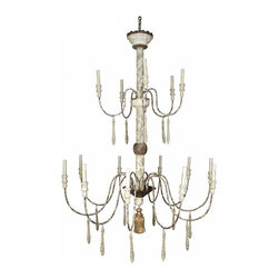 Montez Two Tier Chandelier - It boasts a beauty like that of delicate droplets dancing on willow branches. The Montez Two-Tier Chandelier features two distinctive tiers and 15 candelabra that illume your decor with a soft ambient light presented with international flair. The gentle curvature of the arms imparts an airy, ethereal feel that eschews the overly ornate for the simply stunning.
