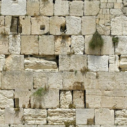 Wallmonkeys Wall Decals - Cut out of the Wailing Western Wall Wall Mural - 72 Inches W x 48 Inches H - Easy to apply - simply peel and stick!