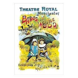 "Buyenlarge.com, Inc. - Babes in the Wood at the Theatre Royal Manchester - Paper Poster 12"" x 18"" - Another high quality vintage art reproduction by Buyenlarge. One of many rare and wonderful images brought forward in time. I hope they bring you pleasure each and every time you look at them."
