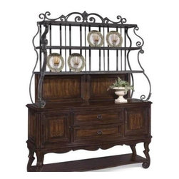 ART Furniture - Coronado Sideboard With Metal Hutch - 72247-2612/72246-2612 - Refined rustic styling with Spanish and Old World inspiration