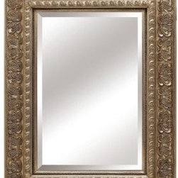 "Lofty - Mercer Antique Silver Mirror 40"" x 52"" - Lofty Mercer RW001S2 Antique Silver Wood Framed Mirror"