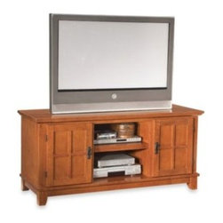 Home Styles - Home Styles Arts & Crafts TV Stand - Bring a classic, old-fashioned look to your home theater with the Home Styles Arts & Crafts TV stand. This TV stand is crafted in the style of furniture and is perfect for an old-fashioned or rustic-looking home decor.