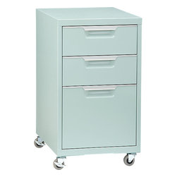 TPS Mint File Cabinet - This mint-colored filing cabinet proves that office furniture doesn't have to be boring.