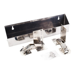 "Hardware Resources - 11-3/4"" Stainless Tipout 2 Tray Set - 11 3/4"" Wide Sink Tipout Tray Pack.  Stainless Steel.  2"" Deep x 3"" Tall.  Sold per pair.  Two sets of hinges  two trays  and 20pcs screws included."
