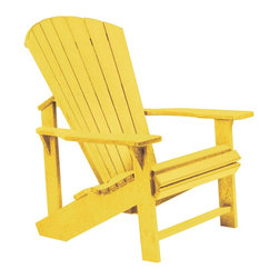 C.R. Plastic Products - C.R. Plastics Adirondack Chair In Yellow - Can be used for residential or commercial use, Ergonomically designed, Heavy 78 gauge plastic lumber 12 used by competitors, All stainless steel hardware, No painting, No slivers, No Rot, Completely waterproof
