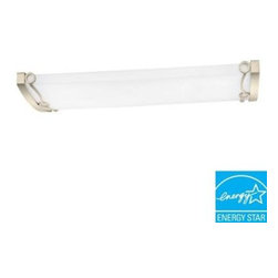 Hampton Bay - Hampton Bay Regency 3-Light Flush-Mount Brushed Nickel Fluorescent Light HBF1231 - Shop for Lighting & Fans at The Home Depot. The Regency Collection 3 Light Flush Mount Brushed Nickel Linear Fluorescent Fixture with its classic design and Brushed Nickel finish creates lighting style applicable to many design approaches. This patented ceiling light is environmentally friendly and Energy Efficient. It uses less energy than incandescent while providing more light output. Use this to brighten any room of your home.