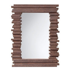 """Murray Feiss - Murray Feiss MR1170 Stacked 39.5"""" High Rectangular Mirror - A whimsical mirror with a frame that appears to consist of stacked gray rock.Features:"""