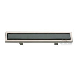 "Atlas Homewares - Cabinet Hardware - Spa 3"" Centers Pull in Black and Brushed Ni -"
