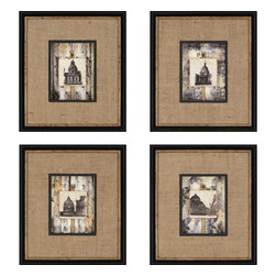 Paragon - Dome Tiles PK/4 - Framed Art - Each product is custom made upon order so there might be small variations from the picture displayed. No two pieces are exactly alike.