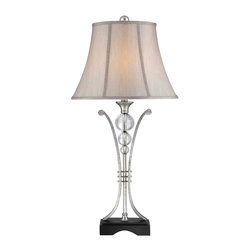 Quoizel Lighting - Quoizel CKML1481T Milano Antique Silver Table Lamp - 1, 100W A19 Medium