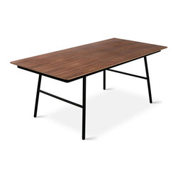 Gus Modern - Gus Modern School Dining Table - Utilitarian chic at its finest for your dining space. This handsome, slim-lined table in your choice of wood finishes is simple, stylish, smart.