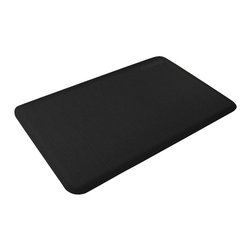 WellnessMats - WellnessMats Motif Collection - Linen - Black - 3' x 2' - Perfect for smaller spaces, the 3' x 2' mat will enable you to stand in comfort and style - anywhere. Use this mat anywhere you are tight for space - smaller kitchens, washrooms, laundry rooms or anywhere you find yourself standing around!