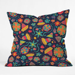 "DENY Designs - Arcturus Bloom 1 Throw Pillow - Wanna transform a serious room into a fun, inviting space? Looking to complete a room full of solids with a unique print? Need to add a pop of color to your dull, lackluster space? Accomplish all of the above with one simple, yet powerful home accessory we like to call the DENY Throw Pillow! Features: -Pillow. -Arcturus Bloom collection. -Fabric: Woven polyester. -Closure: Sealed. -Care: Spot treatment with mild detergent. -Manufacturing 6 color dye process custom printed for every order. -Made in the USA.Dimensions: -Small: 26"" H x 26"" W x 7"" D: 4 lbs. -Medium: 20"" H x 20"" W x 6"" D: 4 lbs. -Large: 18"" H x 18"" W x 5"" D: 3 lbs. -Extra Large: 16"" H x 16"" W x 4"" D: 3 lbs."