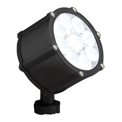 LANDSCAPE - LANDSCAPE 12.4W 35 Degree Spread Landscape LED Accent Light X-TKB25751 - The Textured Black finish and coordinating clear tempered glass lens give this Kichler Lighting outdoor LED accent light a clean look that will easily blend into the background for perfectly concealed but dramatic lighting.