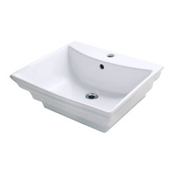 """MR Direct - MR Direct V160-W White Porcelain Vessel Sink - The V160-White porcelain vessel sink offers a unique, modern look for any bathroom. It is made from true vitreous China, which is triple glazed and triple fired to ensure your sink is durable and strong. Because this sink is a vessel, no mounting hardware is needed. The overall dimensions for the V160-White are 19 7/8"""" x 17 1/8"""" x 7 1/4"""" and a 21"""" minimum cabinet size is required. Vessel sinks require a special spring-loaded pop-up drain, which we offer in a variety of finishes to fit your decor. As always, our porcelain sinks are covered under a limited lifetime warranty for as long as you own the sink."""