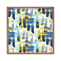DENY Designs - Zoe Wodarz Indigo Ikat Square Tray - With DENY's multifunctional square tray collection, you can use it for decoration in just about any room of the house or go the traditional route to serve cocktails. Either way, you��_ll be the ever so stylish hostess with the mostess!