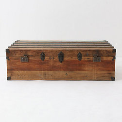Traveler Coffee Table - I really like when furniture serves multiple purposes, like this trunk that can be used as a coffee table as well. Use it to store family photo albums and other things you want to keep close, or fill it with blankets and extra sheet sets for guests.