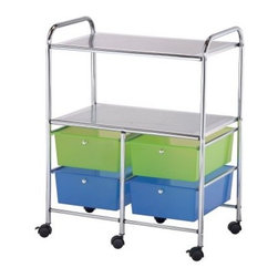 Blue Hills Studio 4-Drawer/Shelf Multi Colored Cart - A Word from the Manufacturer Alvin and Company has been a leading source of drafting and drawing supplies since 1950 and it continues to meet the evolving needs of its customers with value and innovation. The ever-expanding range of Alvin products includes papercraft fine arts hobby and craft drafting supplies drafting tables and more. Alvin serves today's needs - and tomorrow's too - for graphic arts drafting and fine arts products. Dedicated to the pursuit of excellence in all aspects of its business Alvin relies on its employees to create and develop opportunities that set it apart from the competition.
