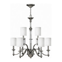 Hinkley Lighting - Hinkley Lighting 4798BN Sussex Brushed Nickel 9 Light Chandelier - Hinkley Lighting 4798BN Sussex Brushed Nickel 9 Light Chandelier