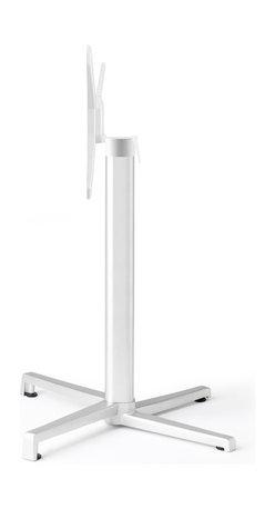 Eurostyle - Domino Dining Table Folding - White - Aluminum square column